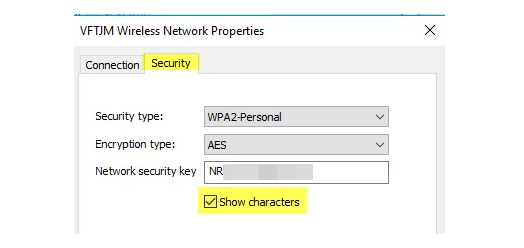View Saved WiFi Passwords on Windows