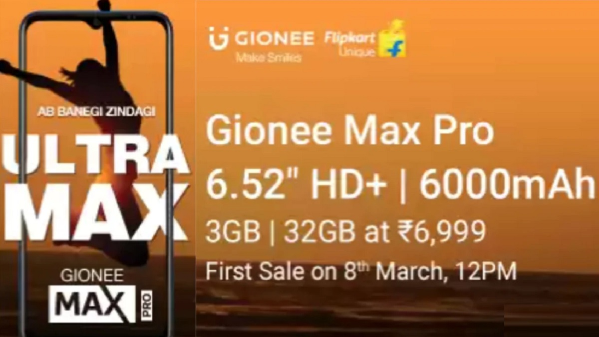 Gionee Max Pro